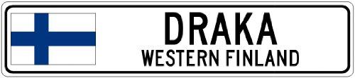 draka-western-finland-finland-flag-city-sign-4x18-quality-aluminum-sign
