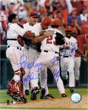 Signed Angels, Anaheim (2002 World Series Champions) 8x10 by the 2002 Anaheim Angels... by Powers+Collectibles