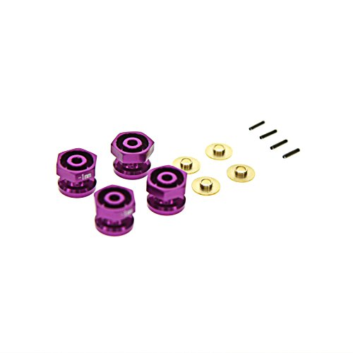 GPM Racing Hex Adaptor Set for 1:18 Associated 18B2 + Other AE Models, 1mm, Purple