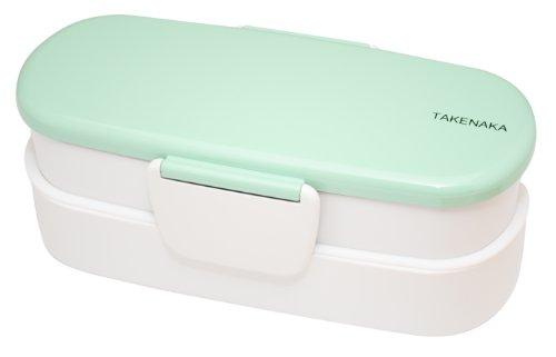 Takenaka Double Bento Box, Slim, Peppermint front-357089