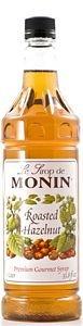 Monin Roasted Hazelnut Syrup - 1ltr Bottle