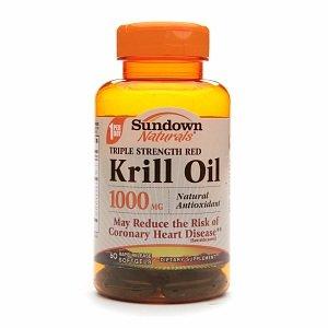 Sundown Naturals Krill Oil 1000Mg Triple Strength, Softgels 60 Ea