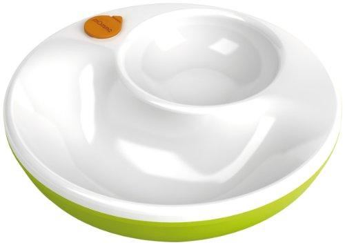 Lansinoh momma 75421 Warmhalteteller mit Wasserkammer und Antirutschboden, grün