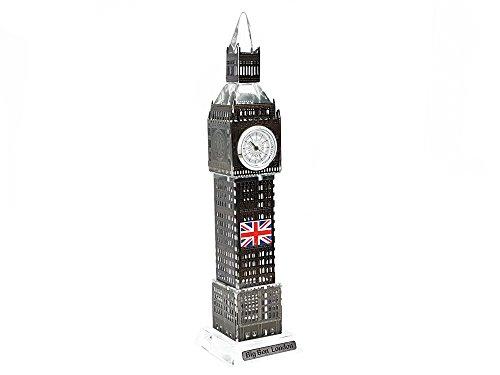 Ornament Londra Big Ben Tower Souvenir, regalo di natale in metallo nero 23cm by gr8vape