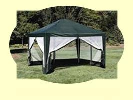 Deluxe 10'x12' Screen House, Party Tent in Green