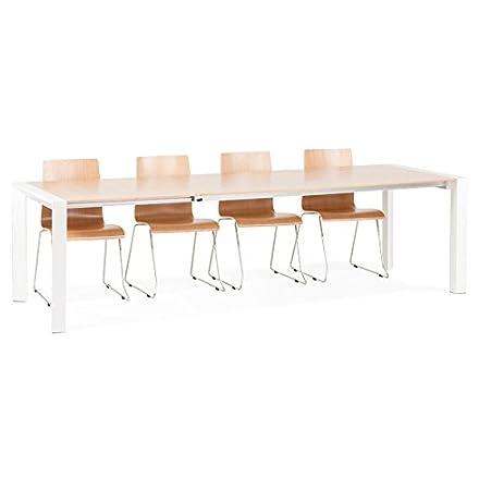 Alterego - Table extensible de salle à manger 'NORDIK' plaquée chêne