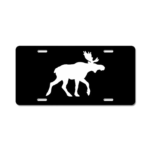 Animal License Plates - Moose Silhouette License Plate
