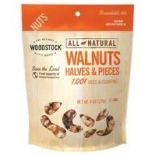 Woodstock Farms All Natural Raw Walnuts Halves And Pieces, 6 Ounce -- 8 Per Case.