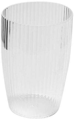 Acrylic Ribbed Waste Basket Color: Clear BA-ASR/WB/26