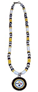 NFL Pittsburgh Steelers Shell Necklace, 18-Inch, White from Simran