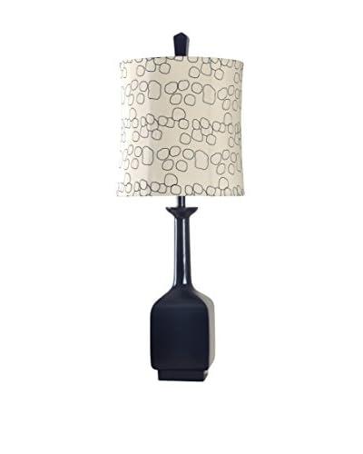 StyleCraft Contemporary Mulholland 1-Light Table Lamp, Black/White