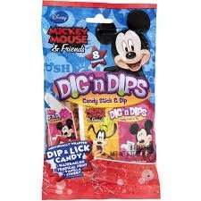 Mickey Mouse & Friends 8 Pounches Dip & Lick Candy - 1