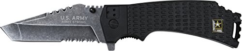 U.S. ARMY A-A1021BS Closed Length Spring Assisted Folder Knife, 4.75-Inch