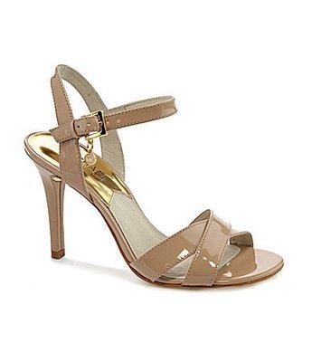 Michael Kors Elisa Nude Ankle Strap Heel Sandal Women Size 9.5 M