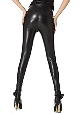 American Trends Women's Faux Leather High Waisted Sexy Leggings