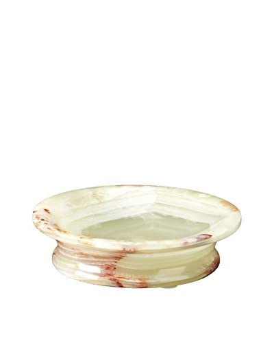 Marble Crafter Vinca Collection Onyx Round Soap Dish, Whirl Green Onyx