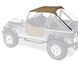 Bestop 52508-04 Tan Traditional Bikini Top for 76-91 CJ7, CJ8 and Wrangler YJ