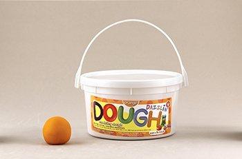 Dazzlin Dough Orange 3 Lb Tub -- Case of 3