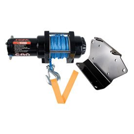 Tusk Winch with Synthetic Rope and Mount Plate 3500 lb. -Fits: Suzuki King Quad 400FS 4x4 2009-2016 (Suzuki King Quad 400fs compare prices)