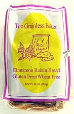 The Grainless Baker Gluten Free Cinnamon Raisin Bread 4/26 oz.