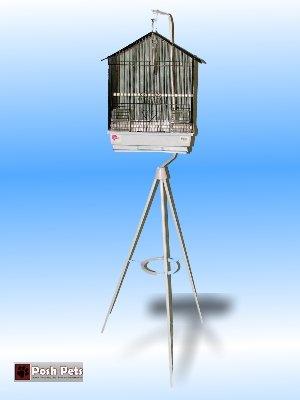 Cheap Dahak Black Nina Bird Cage And Stand Combination (201C2)