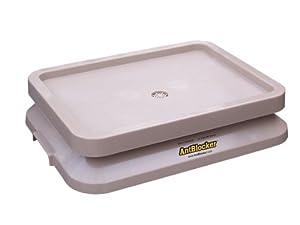 Antblocker Pet Food Tray, Sandstone