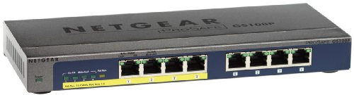 Netgear 8 port 10/100/1000 Gigabit Switch with 4 port Power over Ethernet (PoE)