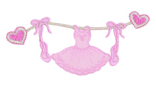 manufacturer-ballet-dress-on-clothesline-iron-on-patch-for-kids-baby-high-quality