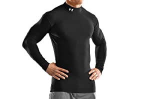 Under Armour Men's ColdGear® Long Sleeve Compression Mock Small Black