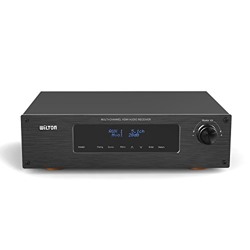 Wilton Hdr520 Aluminium Panel 5.1 Channel 250W Rms Bluetooth Home Theater Built-In Am/Fm Radio Optical/Coaxial Hdmi 4K Amplifier Receiver