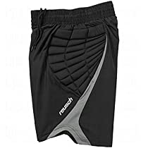 Reusch Adult Eldarion Goalkeeper Shorts, Black/Grey, Medium