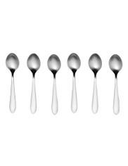 Avalon 6 Piece Brushed Stainless Steel Teaspoon Set