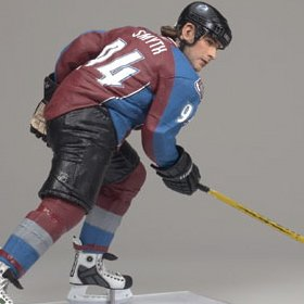 McFarlane Toys NHL Sports Picks Series 19 Action Figure Ryan Smyth 2 (Colorado Avalanche) White Jersey Variant - 1