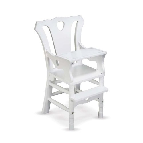 Melissa & Doug Deluxe Wooden Doll High Chair Amazon.com