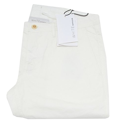 8739F pantaloni SIVIGLIA WHITE 4 TASCHE jeans uomo trousers men [33]