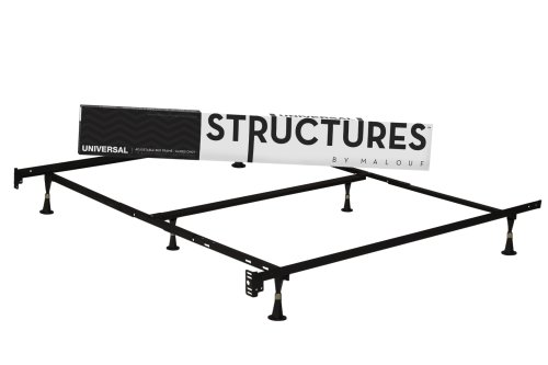 Lowest Price! Structures by Malouf Heavy Duty 6-Leg Linen Spa Adjustable Metal Bed Frame, Universal