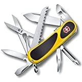 "Victorinox Swiss Army Delemont Collection 85mm (3.35"") EVOGRIP S18 Pocket Tool - Yellow/Black"