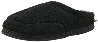 Dearfoams Men's DM04634 Slipper,Black,Small (Men's 7-8 M US)