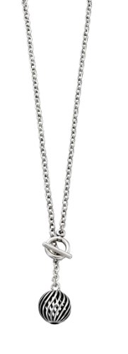 Fiorelli Costume Collection Ladies N3413 Spiral Ball T-Bar Belcher Necklace Length 50cm