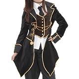 ベスト飾りつきジャケット アルドの貴公子衣装 p126 ゴスロリ ロリータ パンク コスプレ コスチューム メイド 黒 m