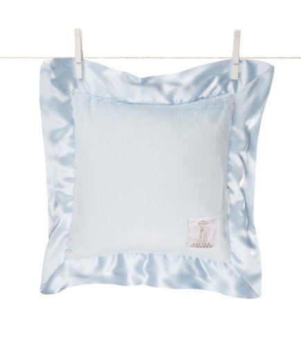 Little Giraffe Luxe Pillow, Blue - 1