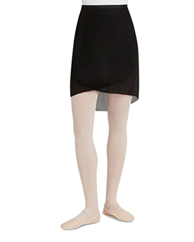 capezio-georgette-largo-abrigo-falda-mujer-color-negro-negro-tamano-med-lge-17-1-4-front-24-back