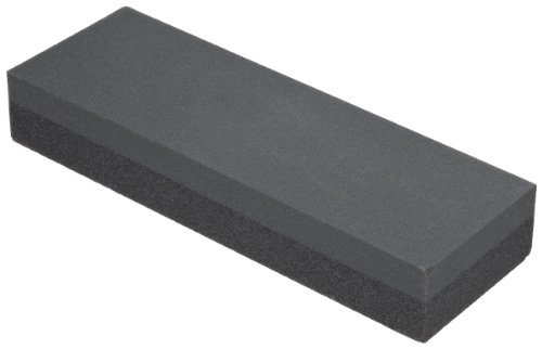 """Norton Combination Grit Abrasive Benchstone, Silicon Carbide, 6"""" Length X 2"""" Width X 1"""" Height (Pack Of 5)"""