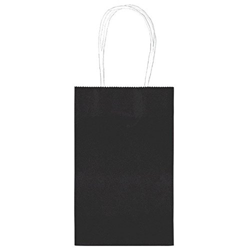 "Amscan Elegant Cub Party Paper Bags, 8"", Black"