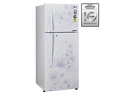 LG GL-D322JPFL Frost-free Double-door Refrigerator (310 Ltrs, 4 Star Rating, Pearl Florid)