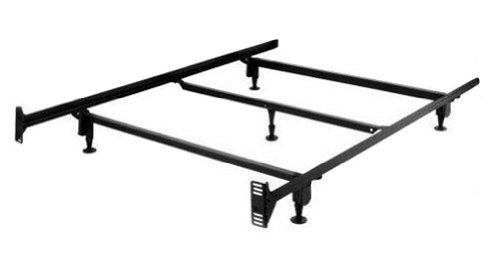 Cute Heavy Duty Metal Bed Frame with Headboard Brackets Full