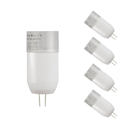 Le 2W G4 Led Bulb, Omni Directional Equivalent To 20W Halogen Bulb, 12Vac/Dc, Warm White, Pack Of 4 Units