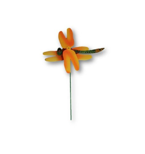Dragonfly Spinning Wings Garden Stakes - Set of 3
