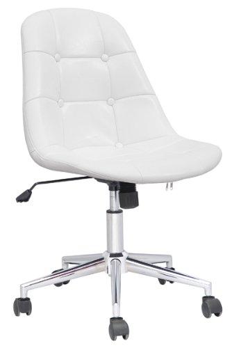 SixBros. Design Sgabello girevole sgabello da lavoro sedia ufficio bianco - M-65314-1/726