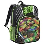 "Nickelodeon Teenage Mutant Ninja Turtles TMNT ""Turtles Rule!"" Large 16"" Backpack"